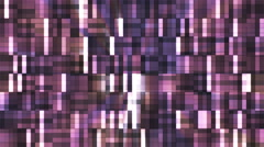 Broadcast Twinkling Squared Hi-Tech Blocks, Purple, Abstract, Loopable, 4K Stock Footage