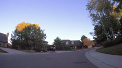 POV point of view - Driving through street with apartment complexes. Stock Footage