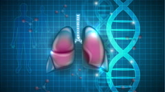Lungs scientific background Stock Footage