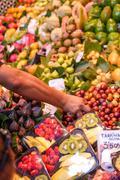 Fruit market in Barcelona, Spain Stock Photos