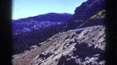 1939: view of a mountainous area with wooded areas and arid zones LAKE TAHOE Stock Footage