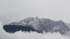 First Snow on Mount Tamaro, Ticino Stock Footage