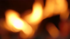 Blurred image of flame Stock Footage
