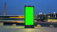 A Billboard With a Green Screen Stock Footage