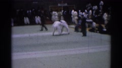 1967: wrestling match LOS ANGELES CALIFORNIA Stock Footage