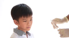 Dentist checking child teeth Stock Footage
