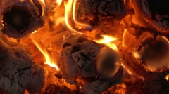 Fire flame, close-up Stock Footage