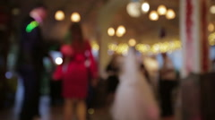 People dancing at a wedding in blur Stock Footage