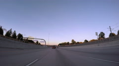 POV point of view - Driving on 225 highway. Stock Footage