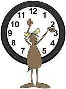 Moose daylight savings time Stock Illustration