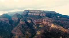 Blyde river canyon three sisters Stock Footage
