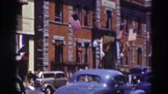 1937: buildings standing tall in the city. TRUCKEE CALIFORNIA Stock Footage