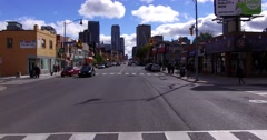 4K POV driving through the busy city streets of downtown Toronto Stock Footage