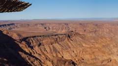 Fish River Canyon in Namiba Stock Footage