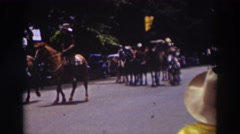 1937: a parade with riders on horses TRUCKEE CALIFORNIA Stock Footage
