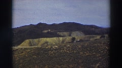 1937: panoramic view of houses scattered along a hillside. TRUCKEE CALIFORNIA Stock Footage