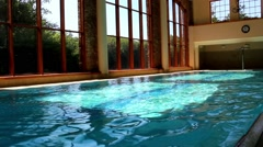 Luxurious Swimming Pool Jacuzzi Spa And Hotel Stock Footage