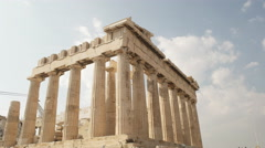 Wide view of the parthenon at the acropolis in athens, greece Stock Footage