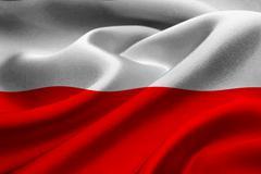 Flag of Poland Stock Illustration