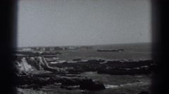 1938: pretty viewing of the rocks and lake. FORT ROSS CALIFORNIA Stock Footage