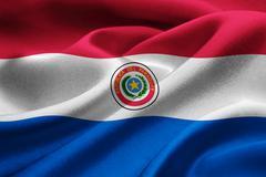National flag of Paraguay Stock Illustration