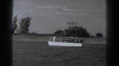 1938: a group of people on a country side's river boat trip, having a good time Stock Footage