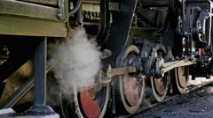Old Locomotive Steam 4k Stock Footage