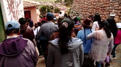 PERU: Traditional procession in Peru (South America) Stock Footage