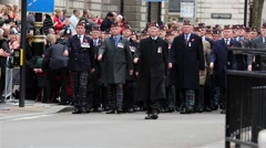 2015, Remembrance Day Parade, London. Stock Footage