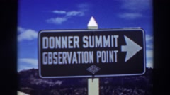1937: sign standing out in the middle of nowhere. LAKE TAHOE CALIFORNIA Stock Footage