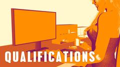 Qualifications Concept Course Stock Illustration