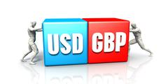 USD GBP Currency Pair Stock Illustration