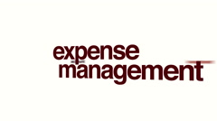 Expense management animated word cloud Stock Footage