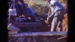 1937: construction workers digging ditches-another day at the office SACRAMENTO Stock Footage