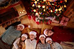 Christmas time spent with family. Stock Photos