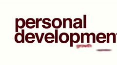 Personal development animated word cloud Stock Footage