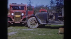 1937: country people doing labor intensive chores in an american rural area Stock Footage