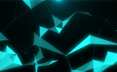 Abstract technology background from connected lines, dots and triangles Stock Footage