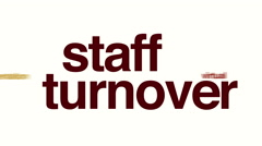 Staff turnover animated word cloud Stock Footage