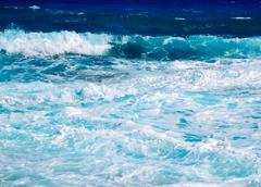 Blue sea of Cyprus Stock Photos