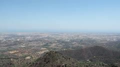 View from Stavrovouni Monastery, Larnaca District, Cyprus Stock Footage