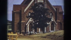 1937: the tallest church that stands VIRGINIA CITY CALIFORNIA Stock Footage