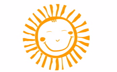 Cute sun animation with alpha channel Stock Footage