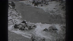 1938: fast flowing river OROVILLE CALIFORNIA Stock Footage
