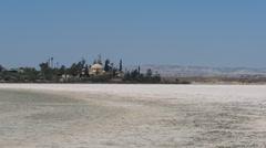 Larnaca Salt Lake, Cyprus Stock Footage