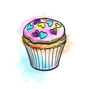 Vector illustration of muffin Stock Illustration