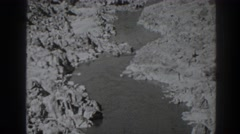 1938: switchback river churns through rugged canyon. OROVILLE CALIFORNIA Stock Footage