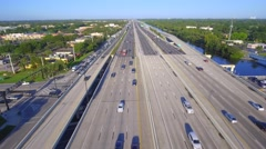 Aerial video of 595 Fort Lauderdale FL USA Stock Footage