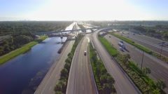Aerial video I595 Fort Lauderdale Stock Footage