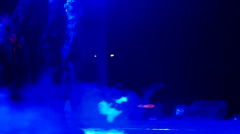 Teens dancing on stage, the boys and girls appear before the public, the concert Stock Footage